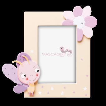 Детская фоторамка Цветок и Бабочка