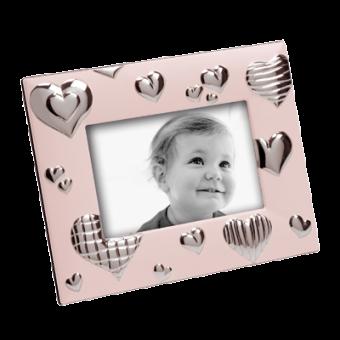 Детская фоторамка Сердце, розовая