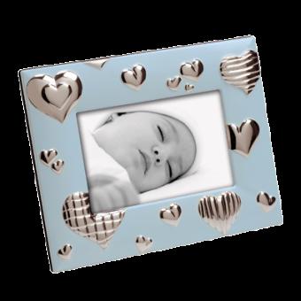 Детская фоторамка Сердце, голубая