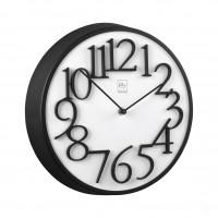 Часы настенные с деревянным основанием Ø33