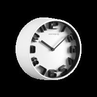 Часы настенные, белые 22см