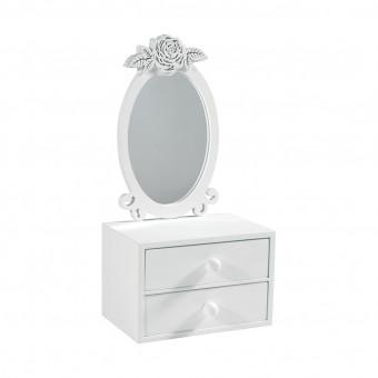 Зеркало с ящиками для украшений