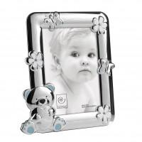 Детская фоторамка с голубым мишкой и кристаллами Swarovski