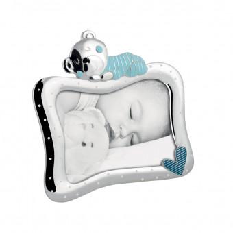 Детская фоторамка c мишкой и сердечком, 13х18 см