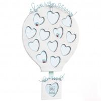 Фоторамка на 12 фотографий для ребенка Воздушный шар, голубая
