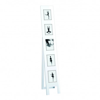 Мультирамка  стойка на 5 фото, белый глянец