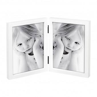 Фоторамка книжка на 2 фото, белая