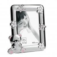 Детская фоторамка с розовым мишкой и кристаллами Swarovski