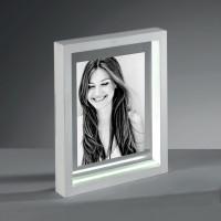Фоторамка с LED-освещением Loom, белая