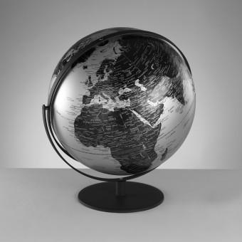 Настольный глобус серебристый, d43 см
