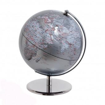 Глобус серый, d25см посеребрение