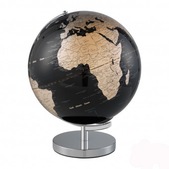 Глобус черный с подсветкой, Ø30