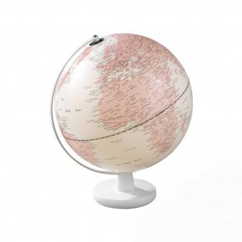 Глобус с подсветкой d 30 см, розовый