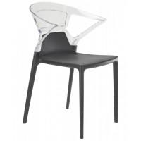 Кресло пластиковое Ego-K, антрацит