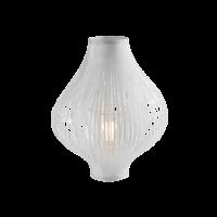 Настольная лампа, белая h44 см