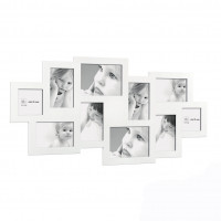 Мультирамка на 10 фото, белая
