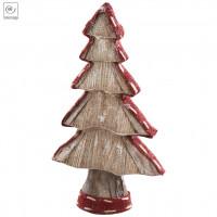 Новогодний декор Рождественское дерево в красной окантовке, 40 см