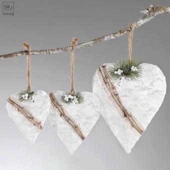 Новогодний декор 3 кружевные сердца
