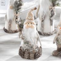 Новогодний декор Санта-Клаус с шишками, 29 см