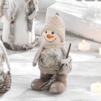 Новогодний декор Снеговик, 20 см