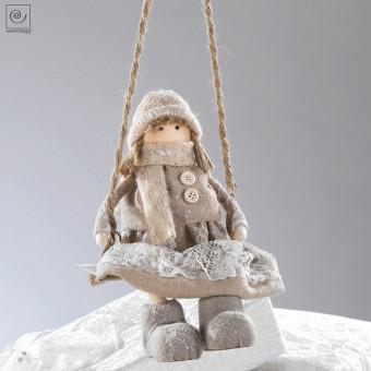 Новогодний декор Девочка, 23 см