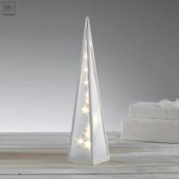 Новогодний декор конусная лампа Звезды 60 см
