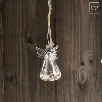 Елочная LED игрушка Ангел, 10 см