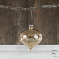 Новогодний набор 4 стеклянных шара Юла