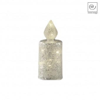 Новогодний декор Стеклянная свеча, 16,5 см