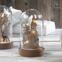 Новогодний декор Рождество в стеклянном куполе