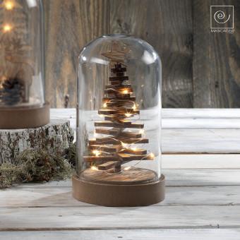 Новогодний декор Елка в стеклянном куполе