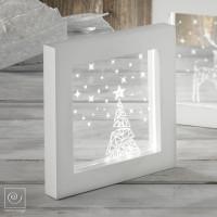 Новогодняя LED-лампа Елка со звездами, 23 см