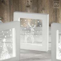 Новогодняя LED-лампа Олень со звездами , 23 см