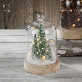Новогодний декор Ели в стеклянном куполе, 22 см