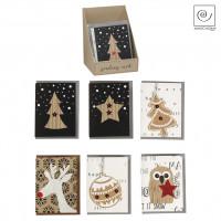 Новогодние открытки с разными картинками, h10 см