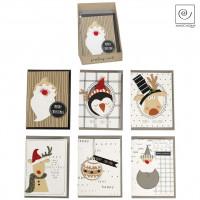 Новогодние открытки, h 16 см