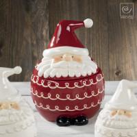 Новогодняя банка для печенья красный Дед мороз, 21 см
