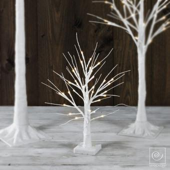 Новогоднее белое светодиодное дерево на 36 фонарей, 45 см