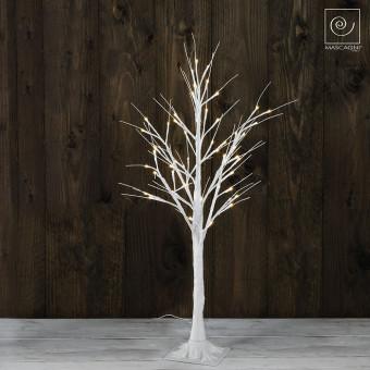 Новогоднее белое светодиодное дерево на 60 фонарей,100 см