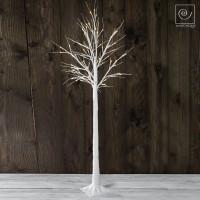 Новогоднее белое светодиодное дерево на 80 фонарей, 150 см
