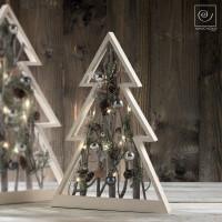 Новогодний декор Деревянная рождественская елка с подсветкой, 50 см