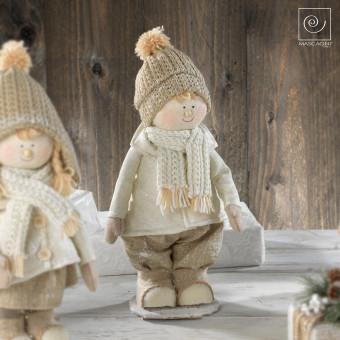 Новогодний декор Мальчик в шапке