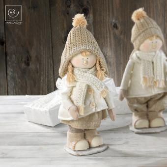 Новогодний декор Девочка в шапке