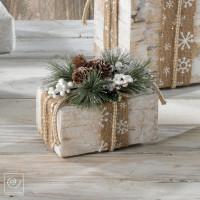 Новогодний декор Декоративная коробка