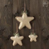 Новогодний набор 3 звезды разных размеров