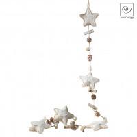 Новогодний декор гирлянда Звезды и шишки