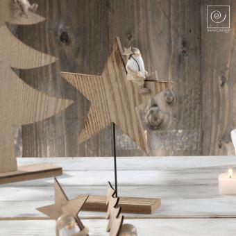 Новогодний декор Деревянная звезда, 24,5 см