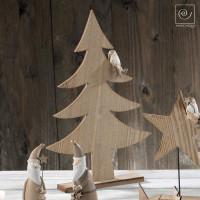 Новогодний декор Деревянная ель, 40,5 см