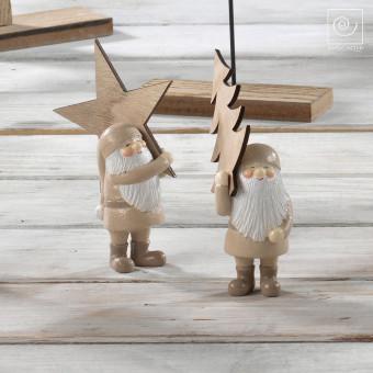 Новогодний набор 2 гномика со звездой
