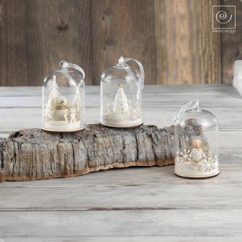 Новогодний набор елочные игрушки 3 купола с фигурками